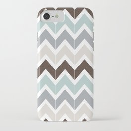 Seaside Chevron iPhone Case