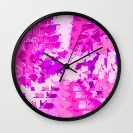 dirty painting pink abstract background Wall Clock