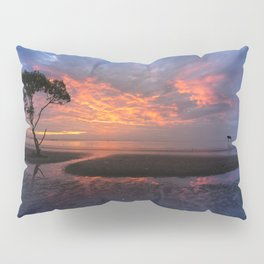 Colorful Sunset on the Beach Pillow Sham