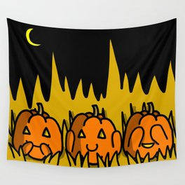 Halloween Pumpkins Speak No Evil, Hear No Evil, See No Evil | Veronica Nagorny Wall Tapestry