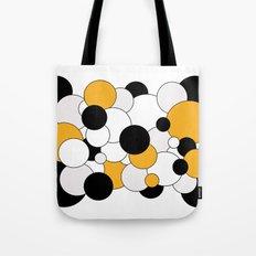 Bubbles - orange, black, gray and white Tote Bag