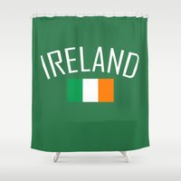 ireland Shower Curtains featuring Ireland by Earl of Grey