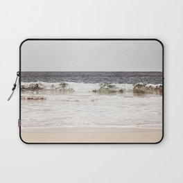 Neutral Ocean Landscape Photography, Grey Seascape Art, Gray Sea Beach Photo, Coastal Print Laptop Sleeve