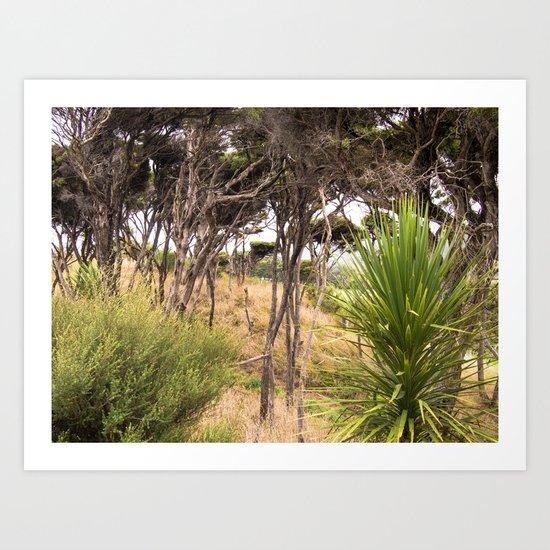 Windswept Trees Art Print