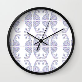 Blue Easter bunny and its eggs Wall Clock