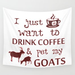 Coffee & Goats Wall Tapestry