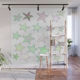 Fun Pastel Stars! Wall Mural