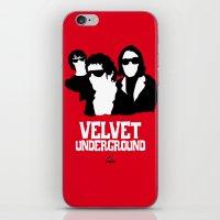 velvet underground iPhone & iPod Skins featuring VELVET UNDERGROUND R by zzglam