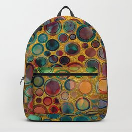 Dots on Painted and Gold Background Backpack