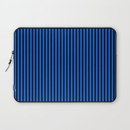 Striped black and blue background Laptop Sleeve