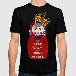 Keep Calm and Drink Vodka Matryoshka T-shirt