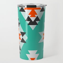 Triangles and diamonds in mint Travel Mug