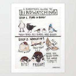 Bird no. 199: Birdwatching Guide Art Print