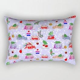 Xmas Holiday Print Rectangular Pillow