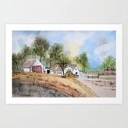 Country Farm Art Print