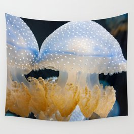 Double Blue Jellyfish - Underwater Photography Wall Tapestry