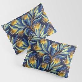 Pohutukawa - Yellow / Blue Pillow Sham