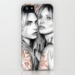 Kate and Cara iPhone Case