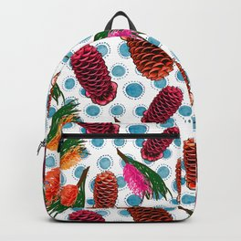 Beautiful Australian Native Floral Print - Grevillea and Beehive Ginger Backpack