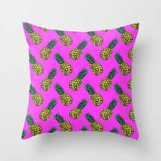 Neo-Pineapple - Miami Throw Pillow