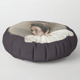 Castiel. White crown. Floor Pillow