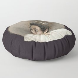 Castiel. White crown. Floor Pillow