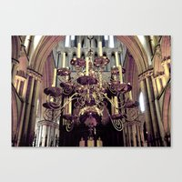 chandelier Canvas Prints featuring Chandelier  by Jonathan Wright Productions