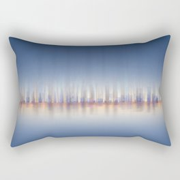 City Panorama / skyline at night - Digital Art / abstract cityscape Rectangular Pillow