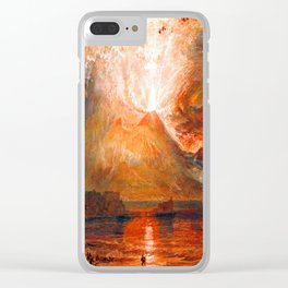 William Turner Vesuvius Eruption Clear iPhone Case