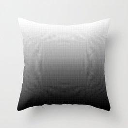 Halftone Gradient Black to White Throw Pillow