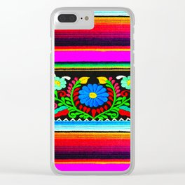 Serape and Flowers Clear iPhone Case