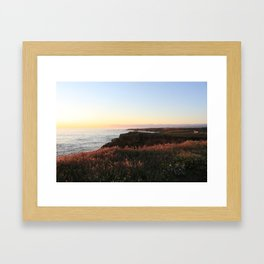 at the edge  Framed Art Print