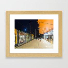 Light Rail Station Framed Art Print