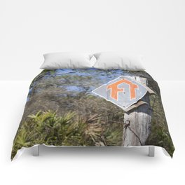 Florida Trail in Winter (unrecognizable weather in Florida) Comforters