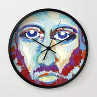 jesus Wall Clocks featuring Jesus  by melissa lyons
