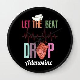 Let the beat drop adenosine design for a Nurse Wall Clock