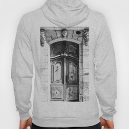 Doorway | Hotel de La Grange Nimes France Vintage Rustic Old World Black and White Architecture Hoody