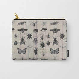 Vintage Insect Study on antique 1800's Ledger paper print Carry-All Pouch