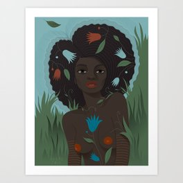 Roots Queen, Earth Day Art Print