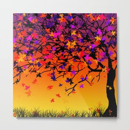 The Scent Of Halloween Autumn Tree Metal Print