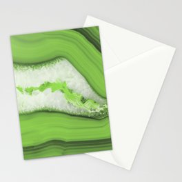 Greenery Agate Stationery Cards