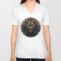 beast V-neck T-shirts featuring Beast by Zandonai