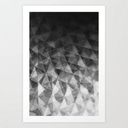 Etched Window in Black and White Art Print