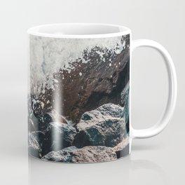 Splashing Waves on Rocks 05 Coffee Mug