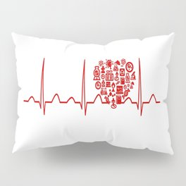 Chemistry Teacher Heartbeat Pillow Sham