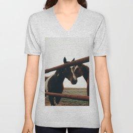 Brown Horses Unisex V-Neck