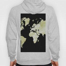 Design 73 World map olive green Hoody
