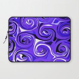 Bright Blue Violet Swirls Laptop Sleeve