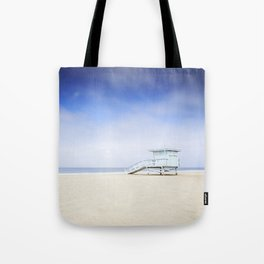 Zuma Beach Lifeguard Hut - Long Exposure Tote Bag