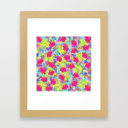Hawaiian Pink Flowers Framed Art Print